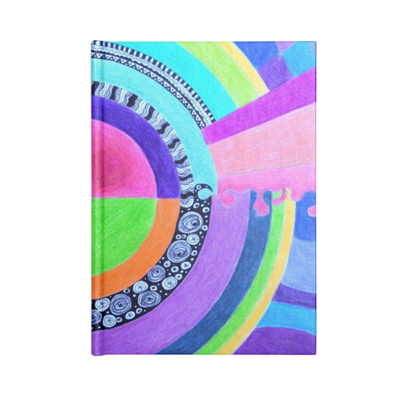 Meditation Mandala Accessories Blank Journal Notebook by 3boysenberries