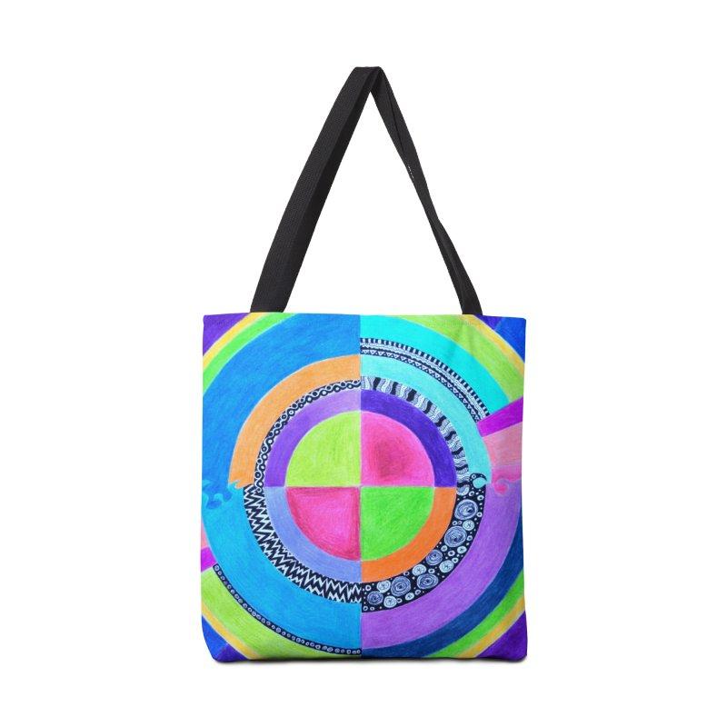 Meditation Mandala Accessories Tote Bag Bag by 3boysenberries