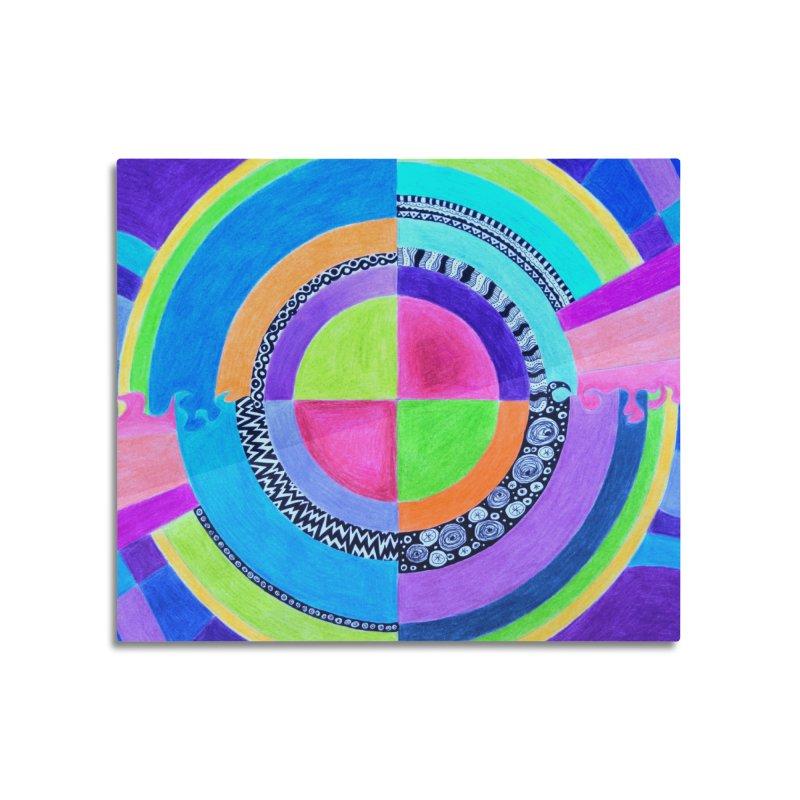 Meditation Mandala Home Mounted Acrylic Print by 3boysenberries