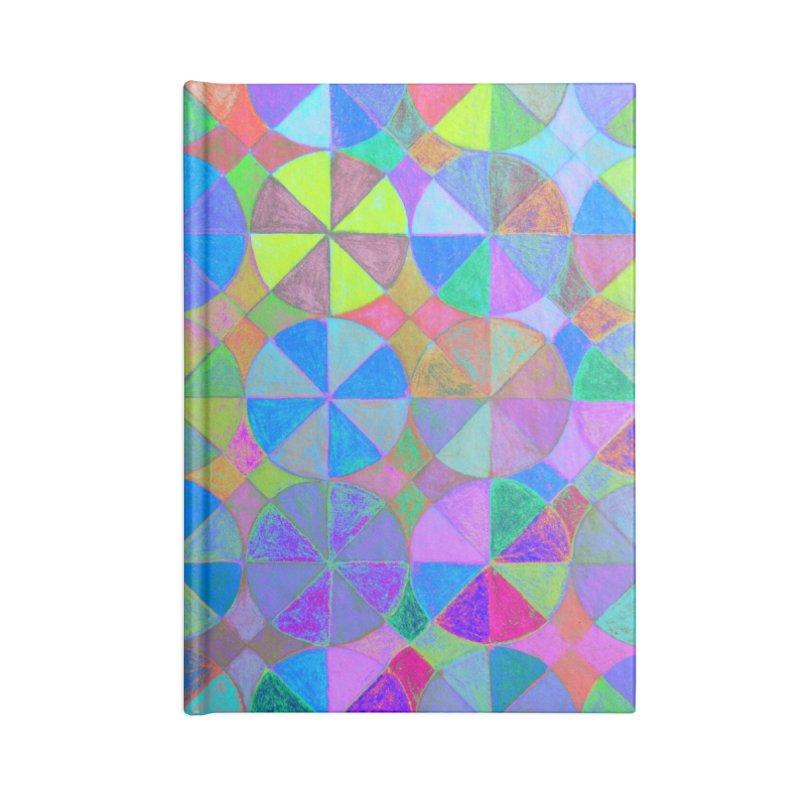 Rainbow Shard Accessories Blank Journal Notebook by 3boysenberries