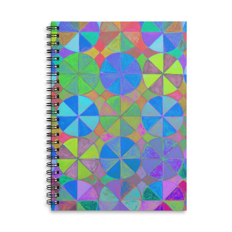 Rainbow Shard Accessories Lined Spiral Notebook by 3boysenberries