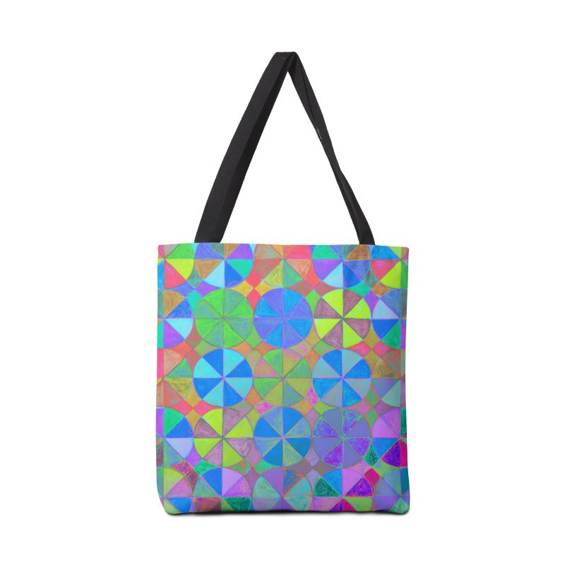 Rainbow Shard Accessories Tote Bag Bag by 3boysenberries