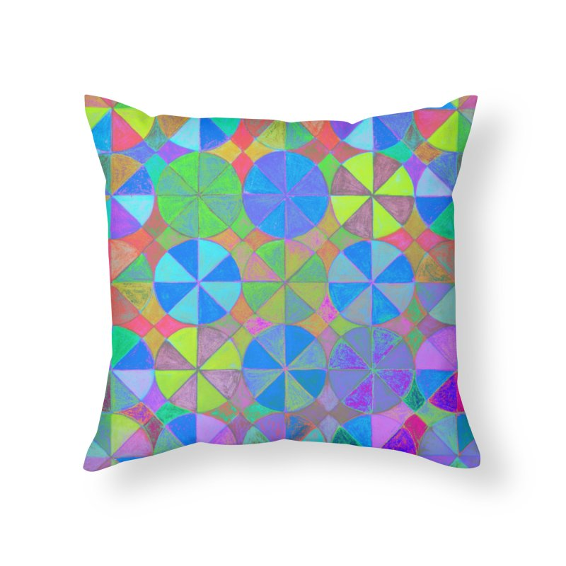 Rainbow Shard Home Throw Pillow by 3boysenberries