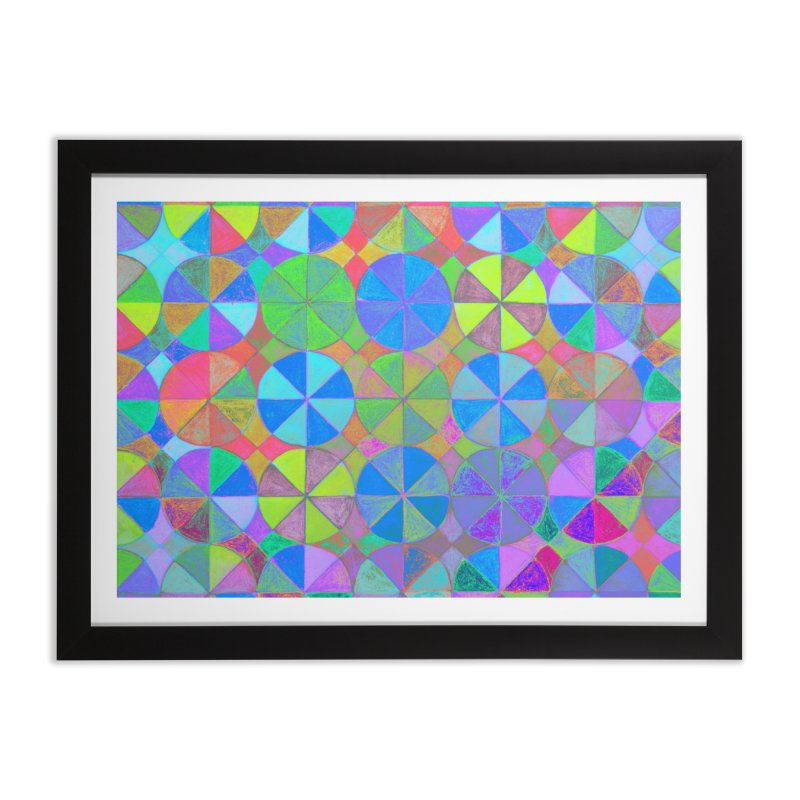 Rainbow Shard Home Framed Fine Art Print by 3boysenberries
