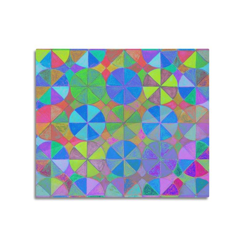 Rainbow Shard Home Mounted Acrylic Print by 3boysenberries