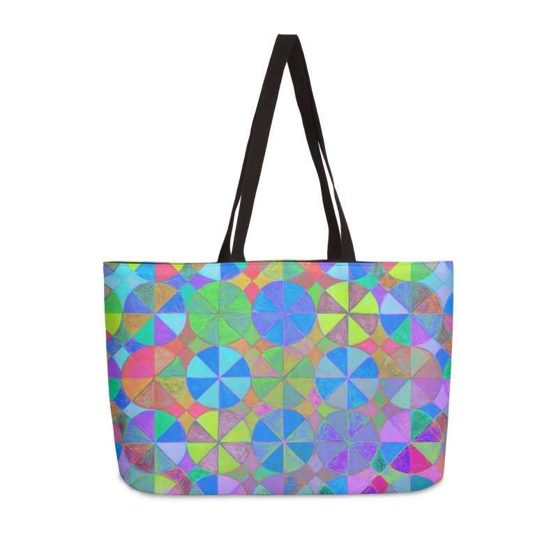Rainbow Shard Accessories Weekender Bag Bag by 3boysenberries