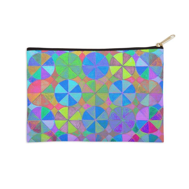 Rainbow Shard Accessories Zip Pouch by 3boysenberries