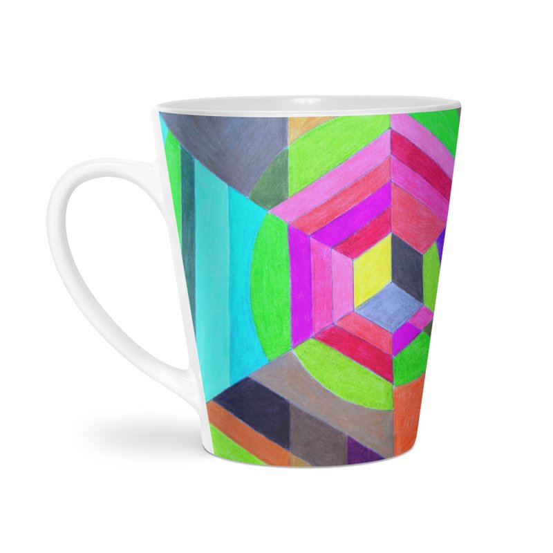 Spiral Hex Accessories Latte Mug by 3boysenberries