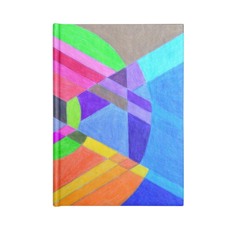 Spiral Hex Accessories Blank Journal Notebook by 3boysenberries