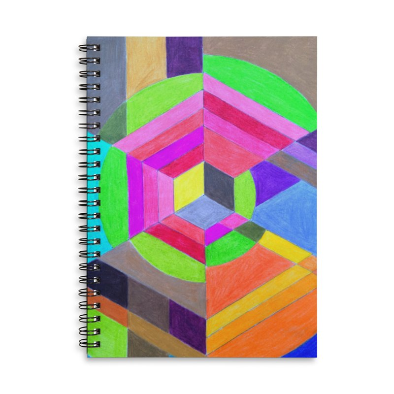 Spiral Hex Accessories Lined Spiral Notebook by 3boysenberries