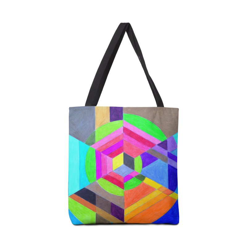 Spiral Hex Accessories Tote Bag Bag by 3boysenberries