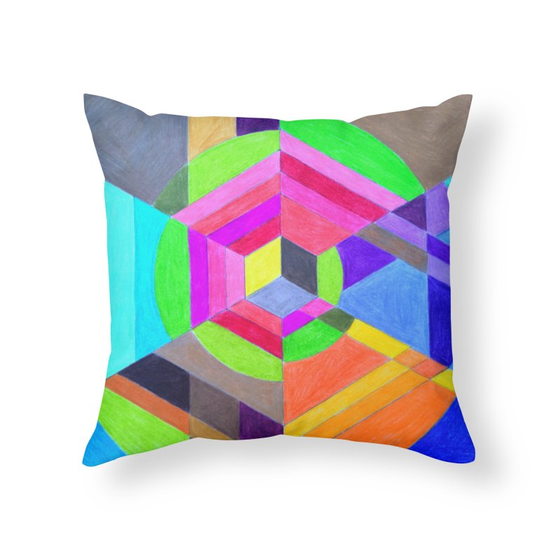 Spiral Hex Home Throw Pillow by 3boysenberries