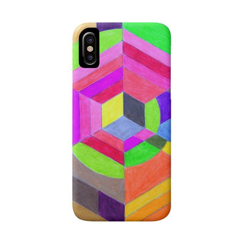 Spiral Hex Accessories Phone Case by 3boysenberries