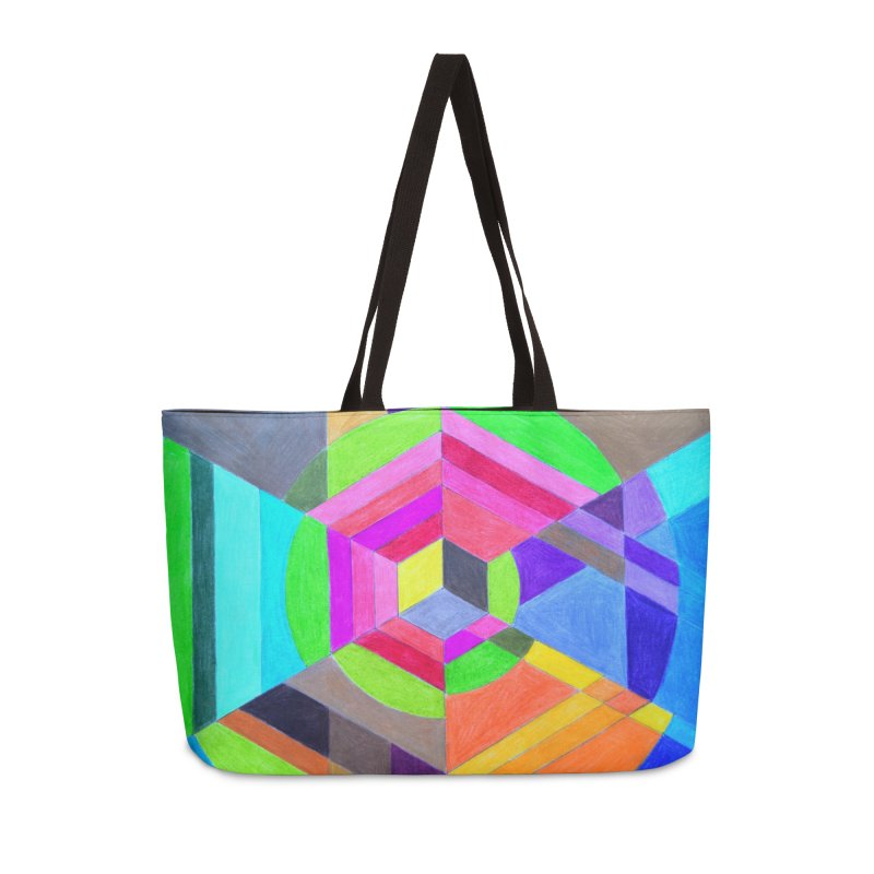 Spiral Hex Accessories Weekender Bag Bag by 3boysenberries