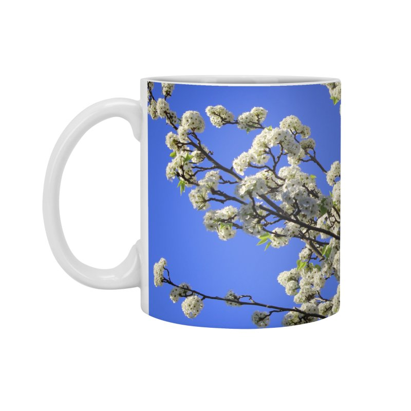 Blue Sky Pear Blossom Accessories Standard Mug by 3boysenberries