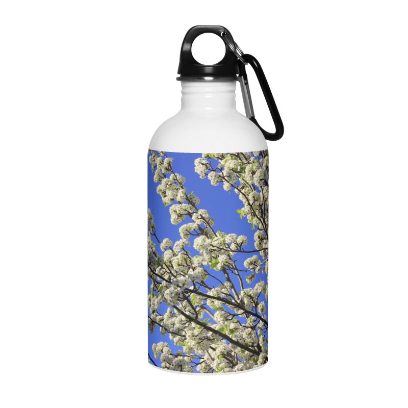 Blue Sky Pear Blossom Accessories Water Bottle by 3boysenberries