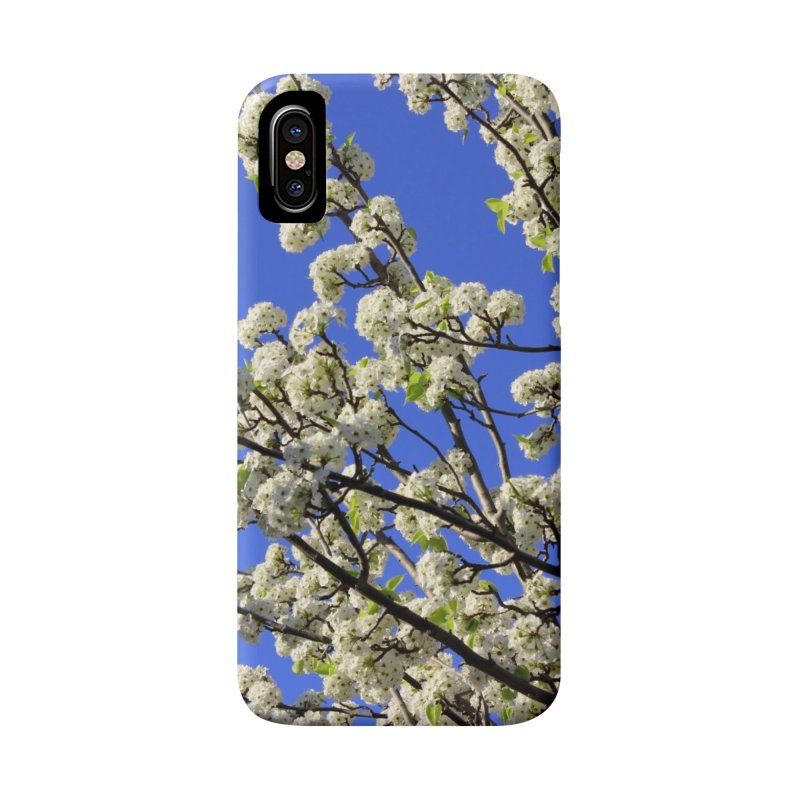 Blue Sky Pear Blossom Accessories Phone Case by 3boysenberries