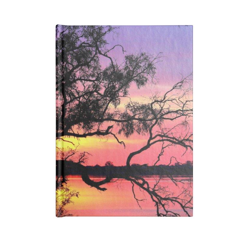 Lake Bonney Sunset Accessories Blank Journal Notebook by 3boysenberries