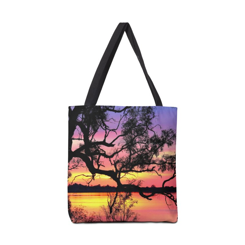 Lake Bonney Sunset Accessories Tote Bag Bag by 3boysenberries