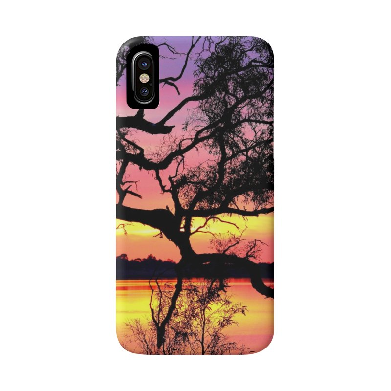 Lake Bonney Sunset Accessories Phone Case by 3boysenberries