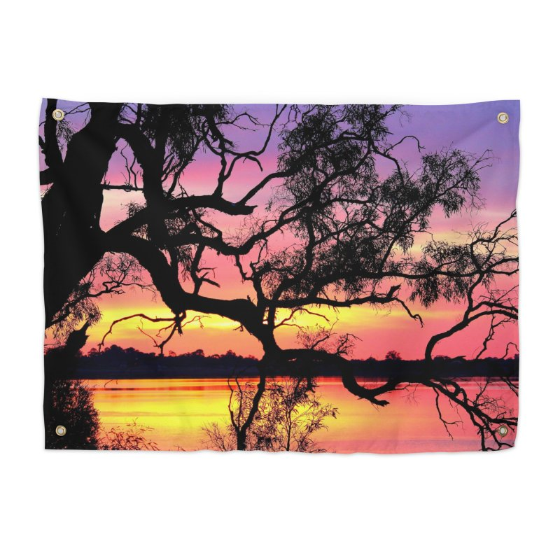 Lake Bonney Sunset Home Tapestry by 3boysenberries