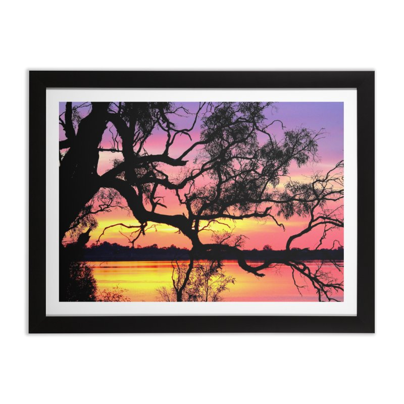 Lake Bonney Sunset Home Framed Fine Art Print by 3boysenberries