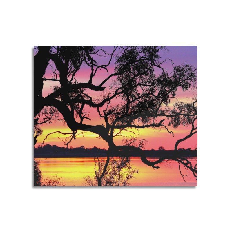 Lake Bonney Sunset in Mounted Acrylic Print by 3boysenberries