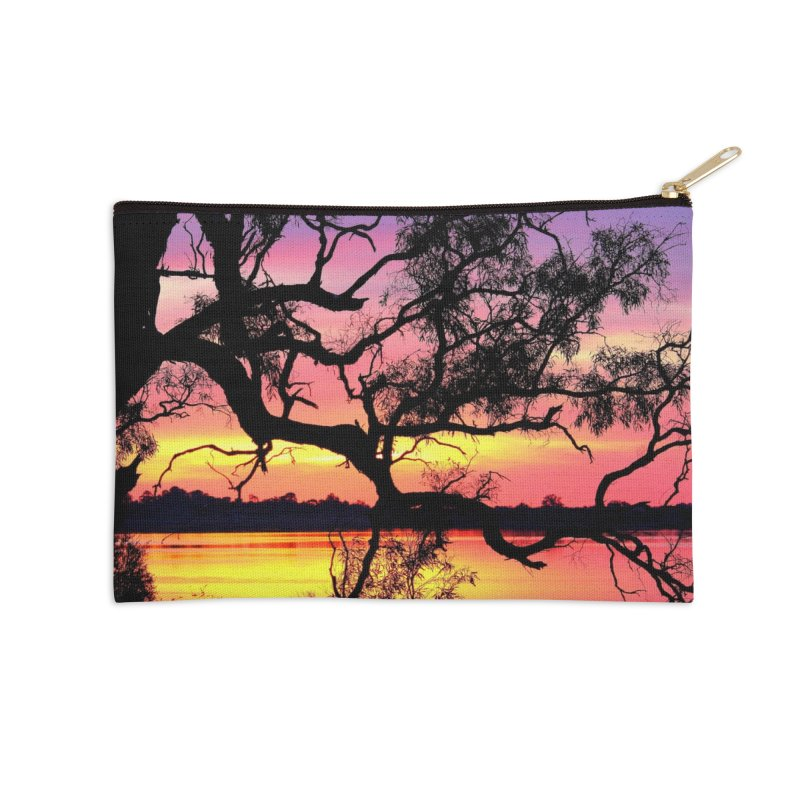 Lake Bonney Sunset Accessories Zip Pouch by 3boysenberries