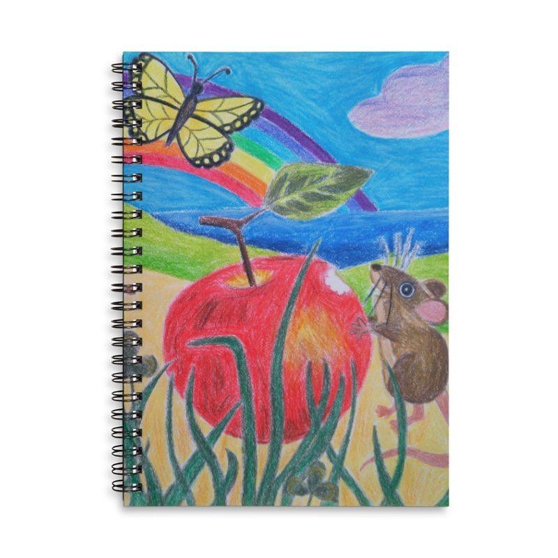 Little Lunch Accessories Lined Spiral Notebook by 3boysenberries
