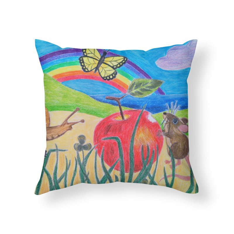 Little Lunch Home Throw Pillow by 3boysenberries