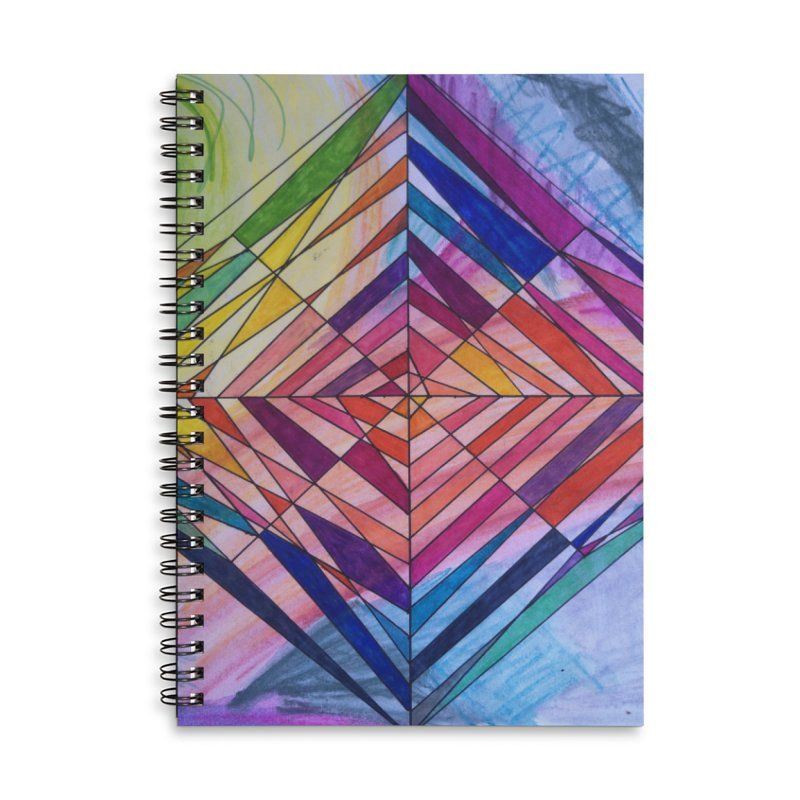Diamond Web Accessories Lined Spiral Notebook by 3boysenberries