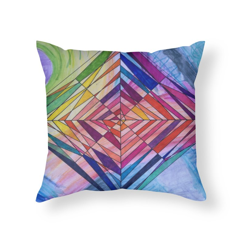 Diamond Web Home Throw Pillow by 3boysenberries