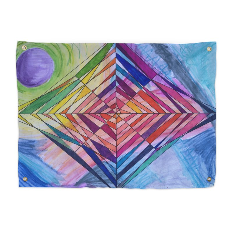 Diamond Web Home Tapestry by 3boysenberries