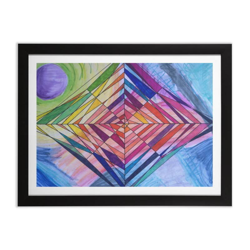 Diamond Web Home Framed Fine Art Print by 3boysenberries
