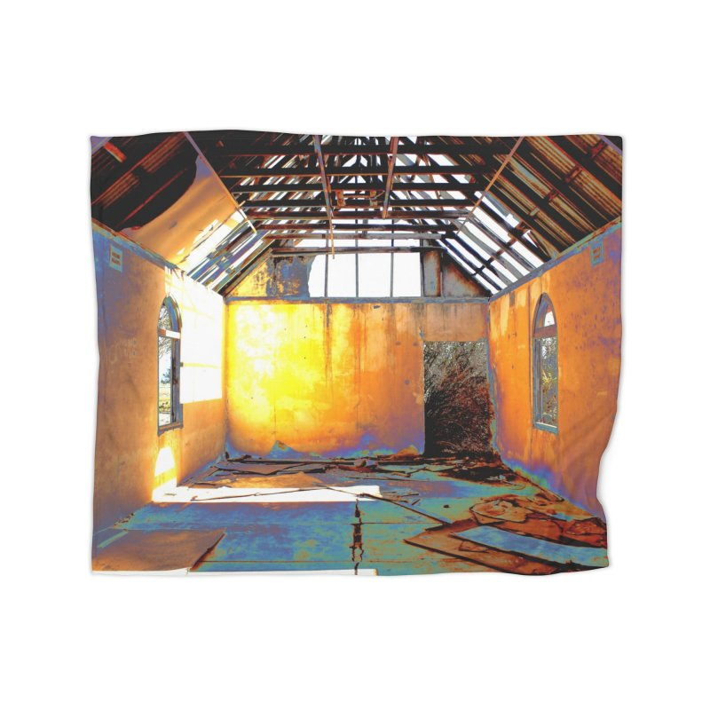 Abandoned Church Home Fleece Blanket Blanket by 3boysenberries