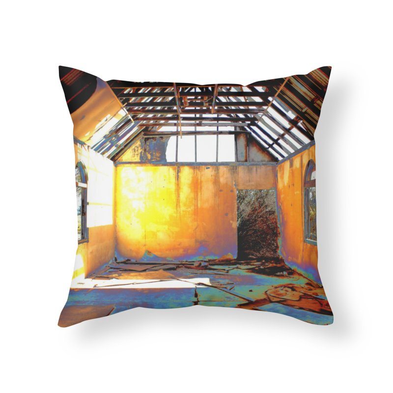 Abandoned Church Home Throw Pillow by 3boysenberries