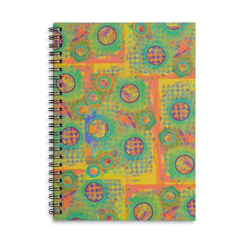 Moonscape Accessories Lined Spiral Notebook by 3boysenberries
