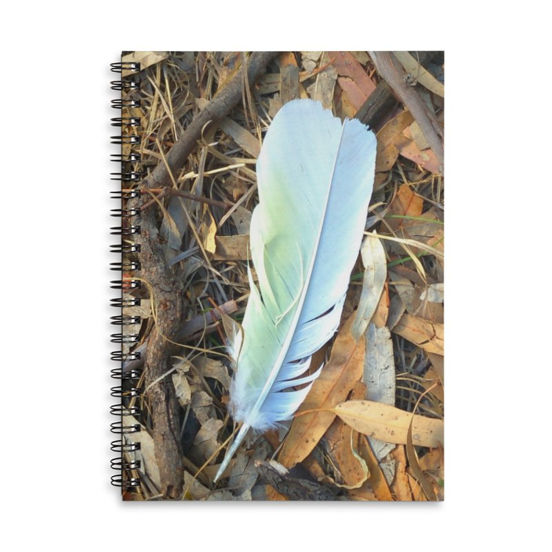 Cockatoo Token Accessories Lined Spiral Notebook by 3boysenberries
