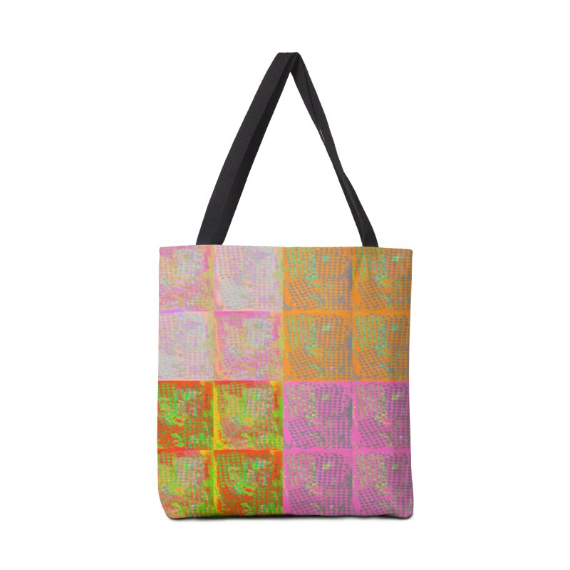 Floral Tile Collage Accessories Bag by 3boysenberries
