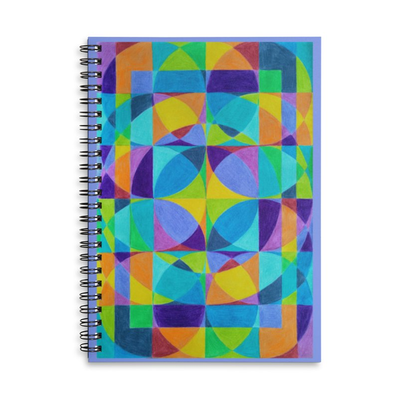 The 'Cross of Light' Effect Accessories Lined Spiral Notebook by 3boysenberries