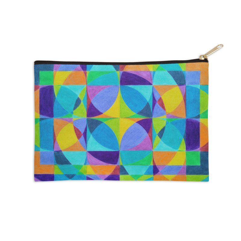 The 'Cross of Light' Effect Accessories Zip Pouch by 3boysenberries