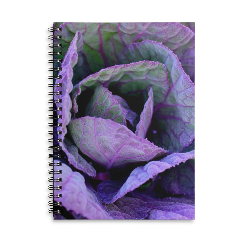Purple Frost Accessories Lined Spiral Notebook by 3boysenberries