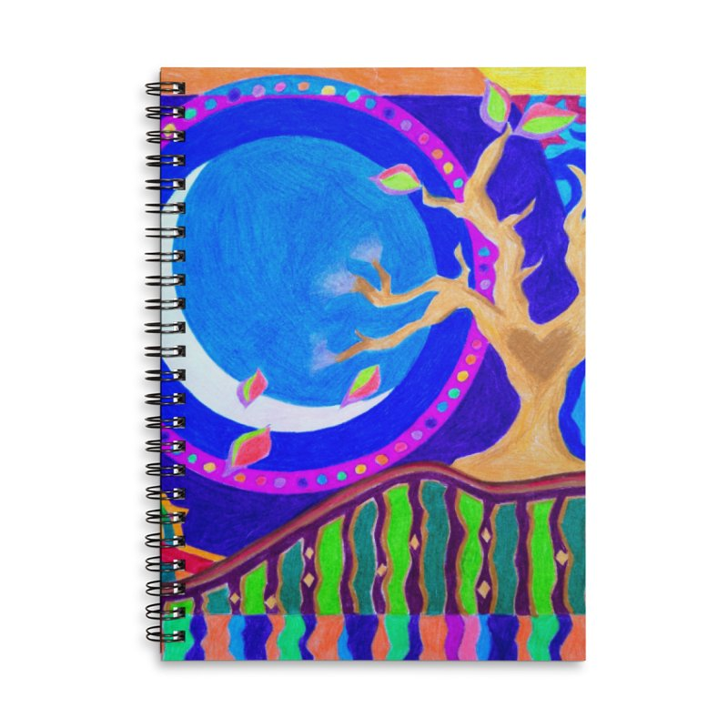 Seasons & Phases Accessories Lined Spiral Notebook by 3boysenberries
