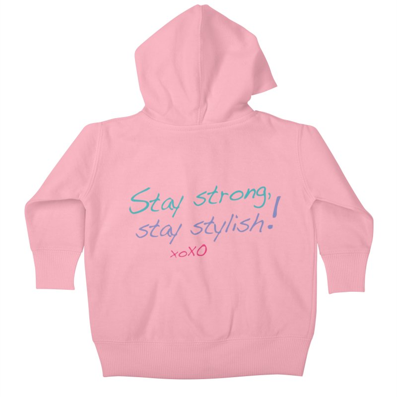 Stay strong, stay stylish! Kids Baby Zip-Up Hoody by 3Cstyle's Artist Shop