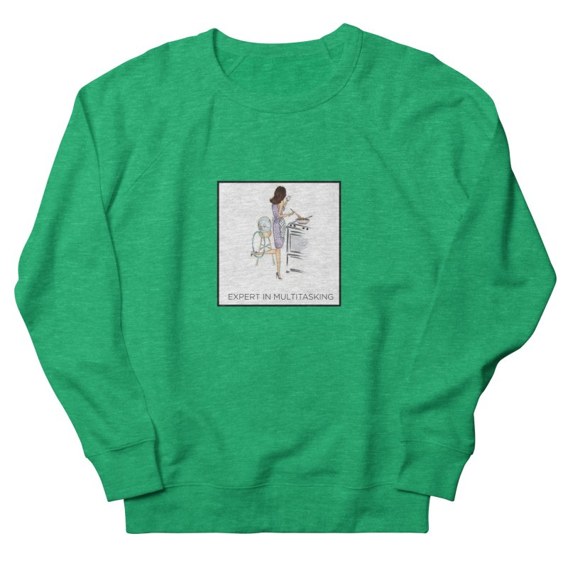 Expert in Multitasking (with border) Women's Sweatshirt by 3Cstyle's Artist Shop