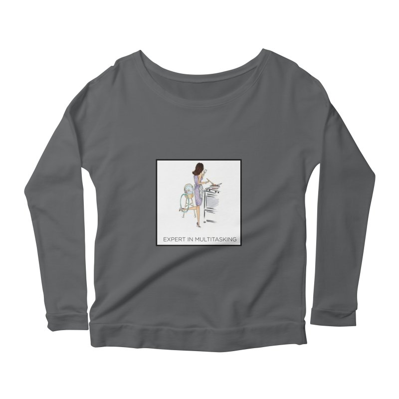 Expert in Multitasking (with border) Women's Longsleeve T-Shirt by 3Cstyle's Artist Shop