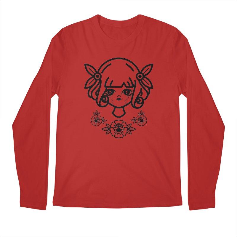makoto girl Men's Longsleeve T-Shirt by 3lw's Artist Shop