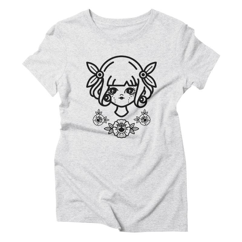 makoto girl Women's Triblend T-shirt by 3lw's Artist Shop