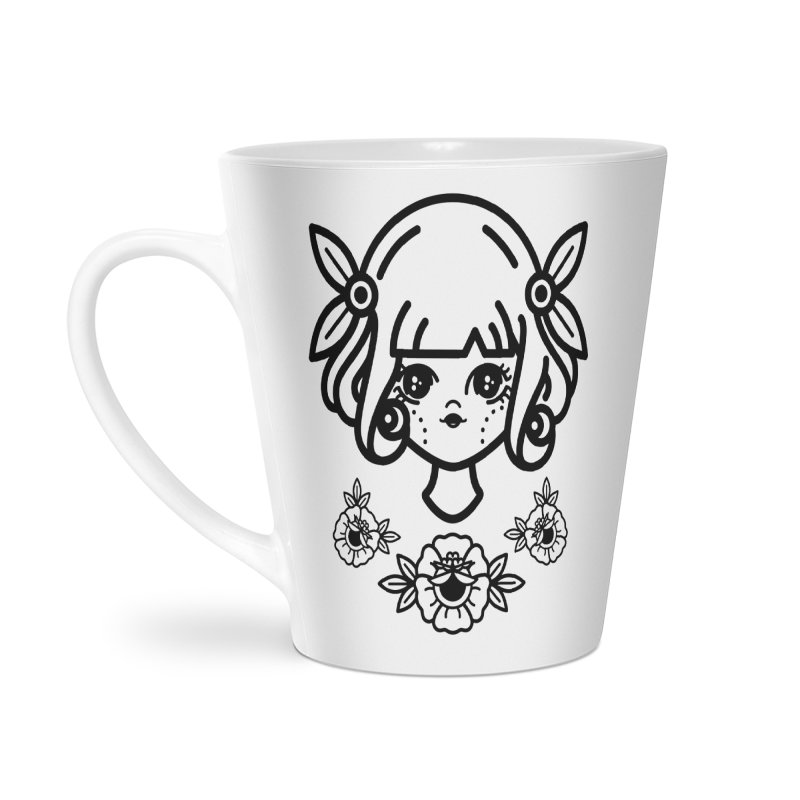 makoto girl Accessories Latte Mug by Cristóbal Urrea