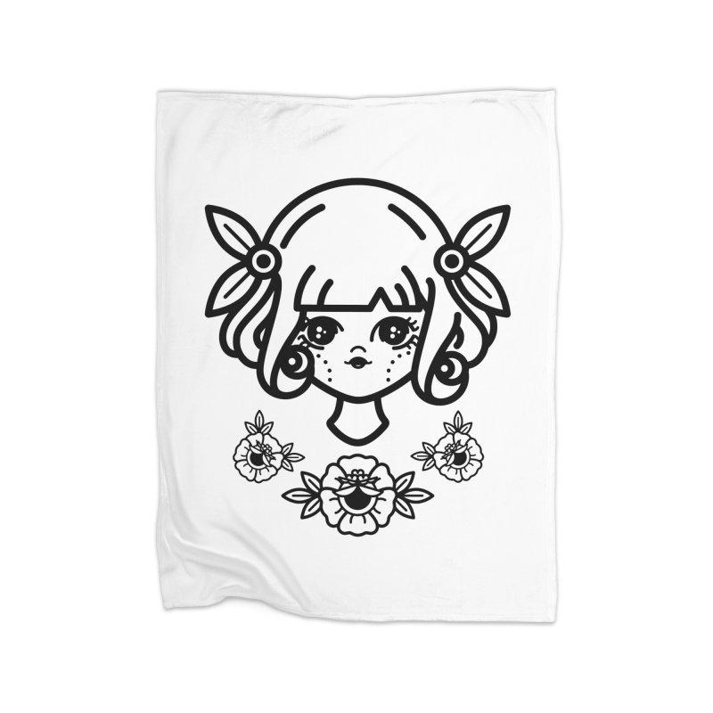 makoto girl Home Throw Pillow by 3lw's Artist Shop